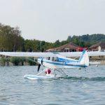 L'aéroclub de Saint-Dizier accueil un Hydravion au lac du Der