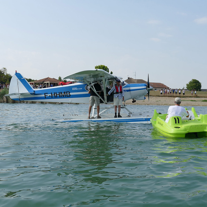 Hydravion au lac du Der